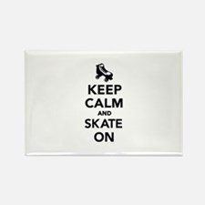 Keep calm and Skate on Rectangle Magnet (10 pack)