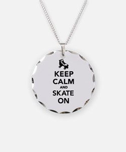 Keep calm and Skate on Necklace