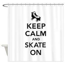 Keep calm and Skate on Shower Curtain