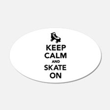 Keep calm and Skate on Wall Decal