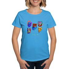 Happy Purim Masks Women'S Dark T-Shirt
