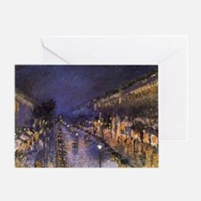 Boulevard Montmartre at Night Greeting Card