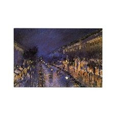 Boulevard Montmartre at Night Rectangle Magnet