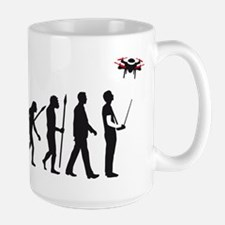 evolution of man controlling drone model Mugs