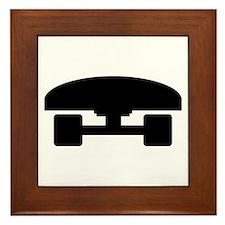 Skateboard logo icon Framed Tile