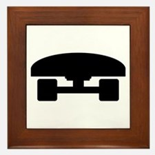 Skateboard logo icon Framed Tile