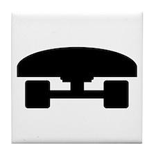 Skateboard logo icon Tile Coaster