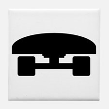 Skateboard logo icon Tile Coaster