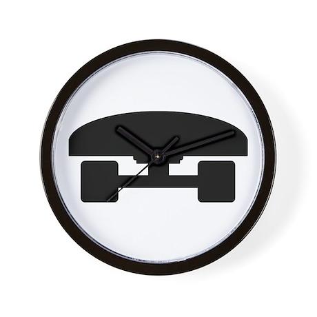 Skateboard logo icon Wall Clock