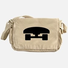 Skateboard logo icon Messenger Bag