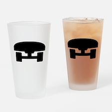 Skateboard logo icon Drinking Glass