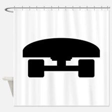 Skateboard logo icon Shower Curtain