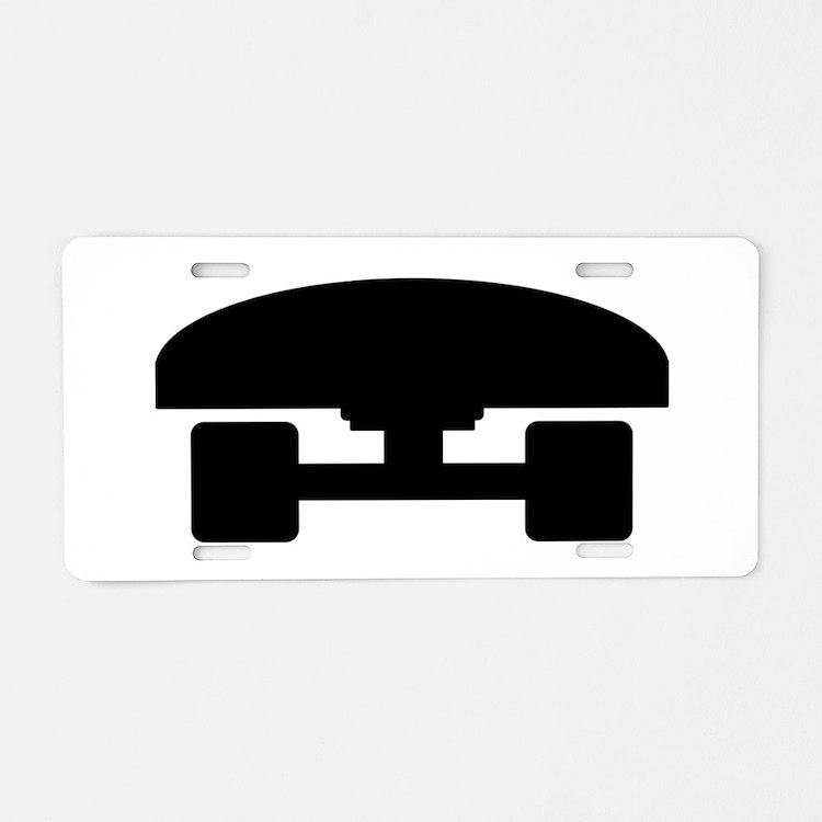 Skateboard logo icon Aluminum License Plate