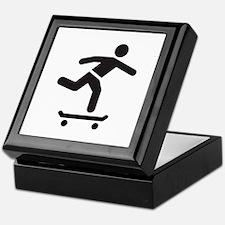 Skateboarder logo icon Keepsake Box