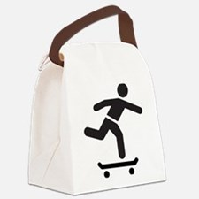 Skateboarder logo icon Canvas Lunch Bag
