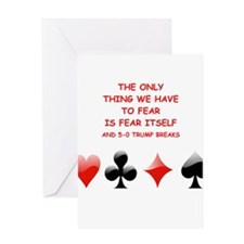 bridge joke Greeting Cards