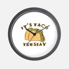 It's Taco Tuesday Wall Clock