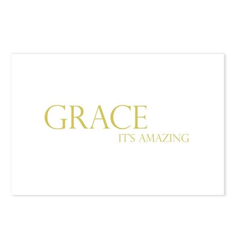 Gold Grace It's Amazing Postcards (Package of 8)