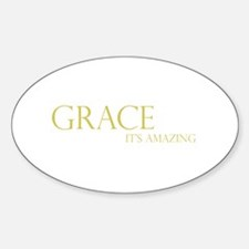 Gold Grace It's Amazing Oval Decal