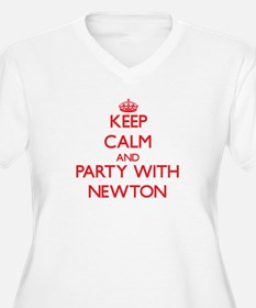 Keep calm and Party with Newton Plus Size T-Shirt