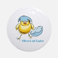 Personalized Hatching Chick Ornament (Round)