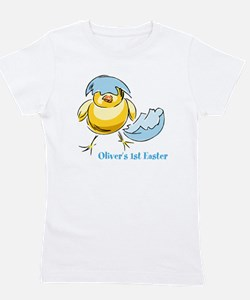 Personalized Hatching Chick Girl's Tee