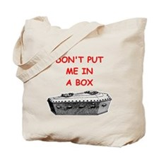 undertaker joke Tote Bag