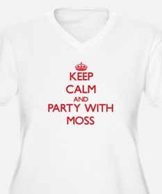Keep calm and Party with Moss Plus Size T-Shirt