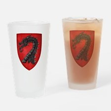 Gules A Dragons Head Erased Sable Drinking Glass