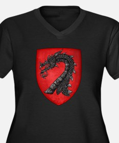 Gules A Dragons Head Erased Sable Plus Size T-Shir