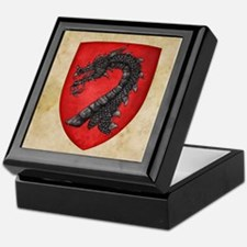 Gules A Dragons Head Erased Sable Keepsake Box