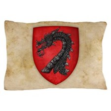 Gules A Dragons Head Erased Sable Pillow Case