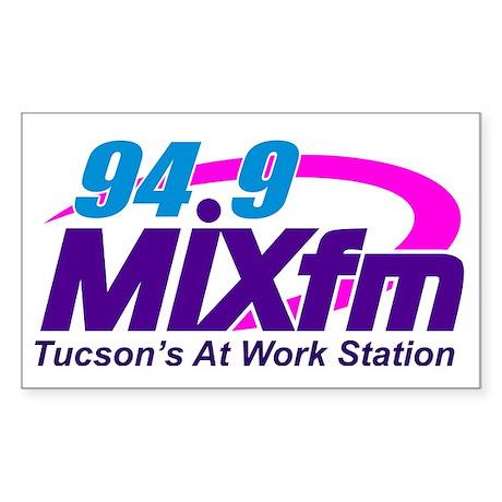 94.9 MIXfm Logo Sticker (Rectangle)