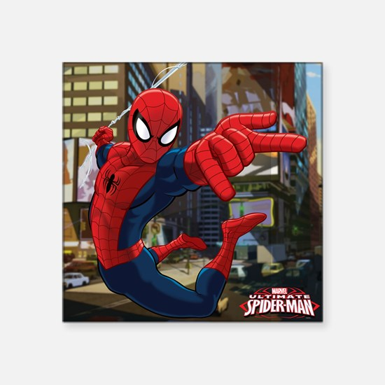 "Ultimate Spider-Man Square Sticker 3"" x 3"""