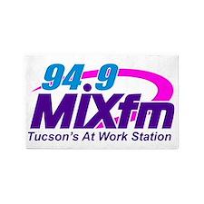 Large MIXfm Logo 2014 3'x5' Area Rug