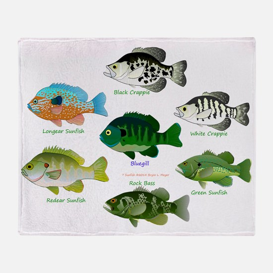 7 Sunfish Throw Blanket