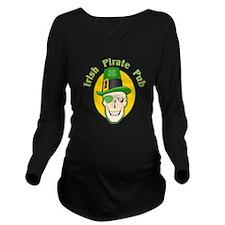 Irish Pirate Pub Long Sleeve Maternity T-Shirt