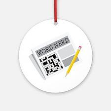 Word Nerd Ornament (Round)