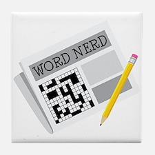 Word Nerd Tile Coaster