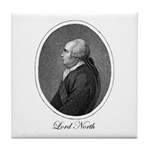 Frederick, Lord North. Tile Coaster