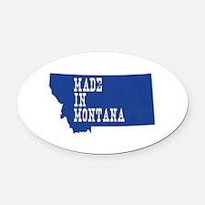 Montana Oval Car Magnet