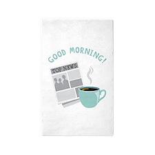Good Morning! 3'x5' Area Rug