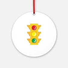 Traffic Signal Light Ornament (Round)
