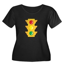 Traffic Signal Light Plus Size T-Shirt