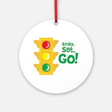 Ready, Set, Go! Ornament (Round)