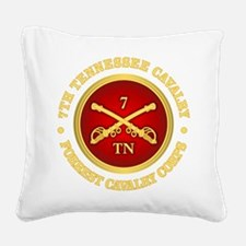 7th Tennessee Cavalry Square Canvas Pillow