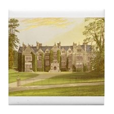 Wroxton Abbey Covered in Ivy. Tile Coaster