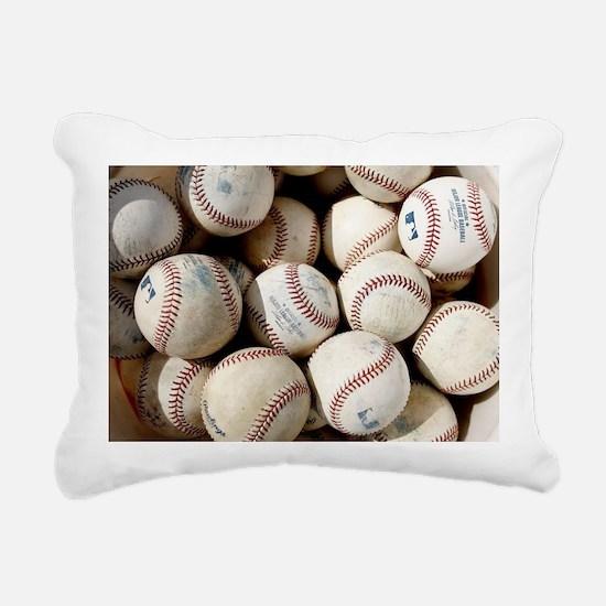 Baseballs Rectangular Canvas Pillow
