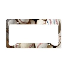 Baseballs License Plate Holder