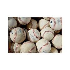 Baseballs Rectangle Magnet